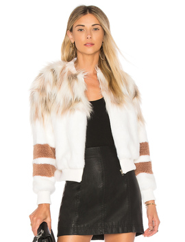 The Bella Faux Fur Bomber by Nbd