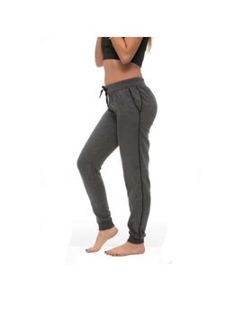 coco-limon-womens-fleece-lined-long-joggers-with-pockets---charcoal by coco---limon