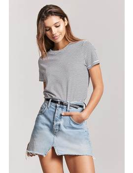 Stripe Cotton Tee by F21 Contemporary