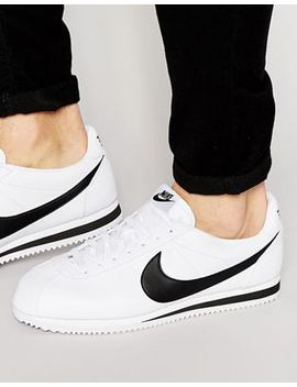 Nike Cortez Leather Sneakers In White 749571 100 by Nike