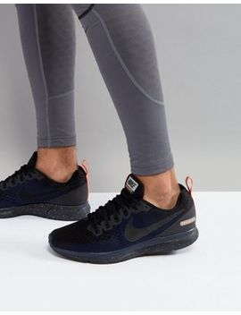 Nike Running Air Zoom Pegasus 34 Shield Sneakers In Black 907327 001 by Nike