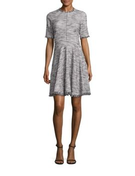 Boucle A Line Dress by Rebecca Taylor