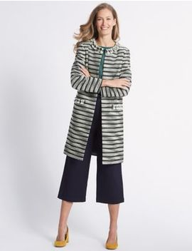 Cotton Blend Jacquard Coat by Classic