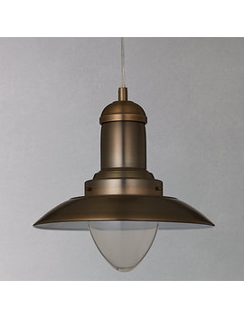John Lewis Barrington Pendant Ceiling Light, Satin Brass by John Lewis