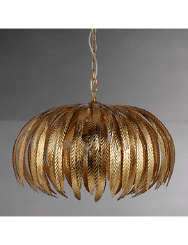 John Lewis Montserrat Ceiling Light, Gold by John Lewis
