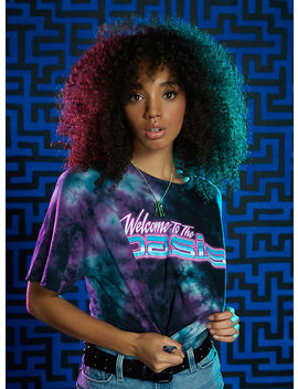 Ready Player One Welcome To The Oasis Tie Dye Girls Crop T Shirt by Hot Topic