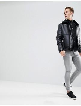 Esprit Slim Fit Cotton Poplin Shirt In Black by Esprit