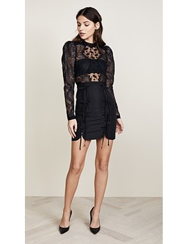 Lace Applique Mini Dress by Self Portrait