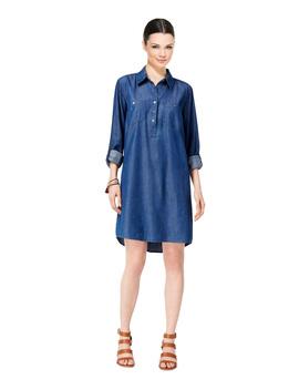 Denim Cuffed Sleeve Shirt Dress by Style&Co