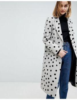 Пальто в горошек Asos by Asos