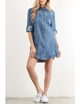 Denim Dress by Pickles And Olive's Boutique, Texas