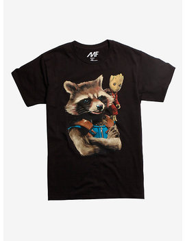 Marvel Guardians Of The Galaxy Vol. 2 Rocket &Amp; Groot T Shirt by Hot Topic