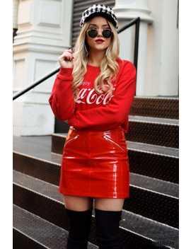 Coca Cola Graphic Sweatshirt by F21 Contemporary