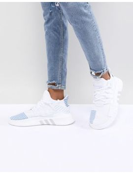 Adidas Originals Eqt Basket Adv Sneakers In White by Adidas