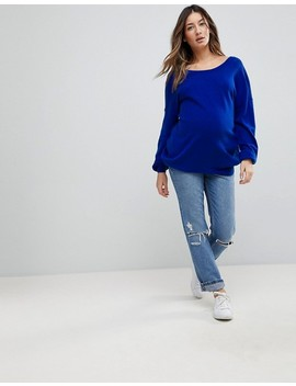 Asos Maternity Jumper With V Back Detail by Asos Maternity