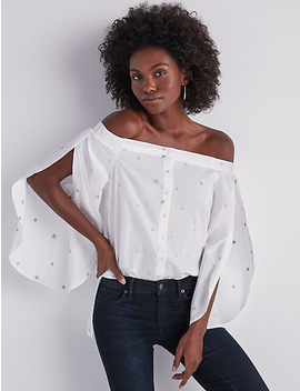off-shoulder-embroidered-poplin-top by lucky-brand