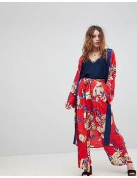 Kiss The Sky Floral Kimono &Amp; Pants Co Ord by Asos Brand