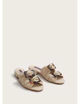 Brooches Linen Blend Sandals by Mango