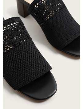 Crochet Panel Sandal by Mango