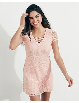 Strappy Lace A Line Dress by Hollister