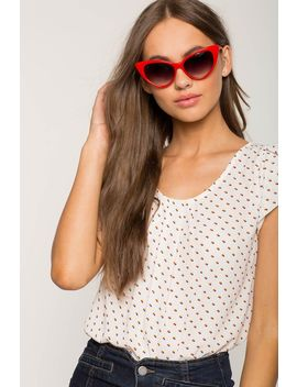 Heart Dot Pleated Tee by A'gaci