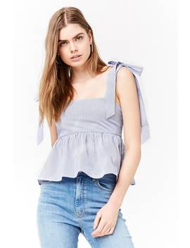 Striped Tie Strap Top by Forever 21
