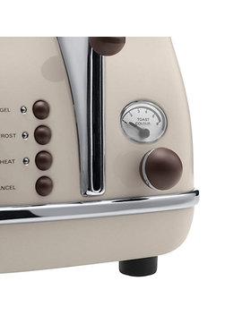 De'longhi Ctov4003 Bg Vintage Icona Toaster, 4 Slice, Cream by De'longhi