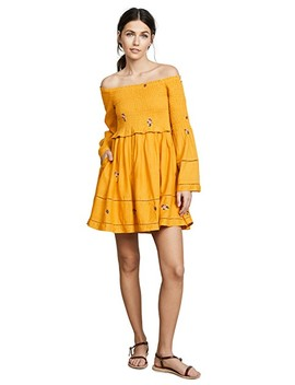 Counting Daisies Embroidered Mini Dress by Free People