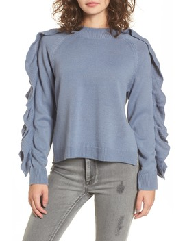 Imitation Pearl & Ruffle Trim Sweater by Bp.