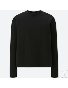 Women Hpj Oversized Crew Neck Long Sleeve T Shirt by Uniqlo