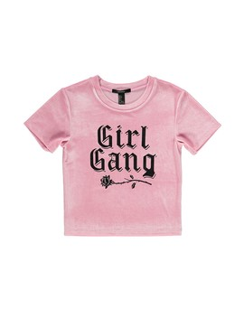 Velvet Girl Gang Graphic Tee by Forever 21