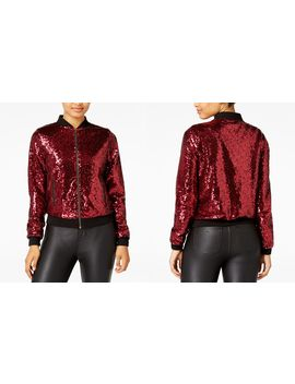 Juniors' Sequined Bomber Jacket by The Edit By Seventeen