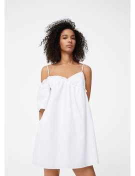 Asymmetrisches Kleid Aus Popeline by Mango