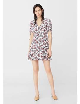 Kleid Mit Floralem Dessin by Mango