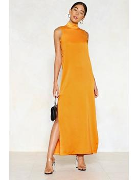 Hold Your Head High Satin Dress by Nasty Gal