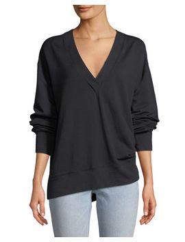 Flora V Neck Long Sleeve Pullover by Rag & Bone