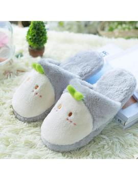 Cute Animal Cartoon Women Winter Home Slippers For Indoor Shoes Bedroom Warm House Slippers Cotton Shoes Adult Lovers Plush Flat by Lcizrong Slipper Store