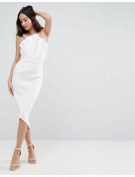 Asos Premium Fan Scuba Midi Dress by Asos Collection