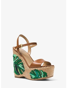 Fisher Palm Embroidered Wedge by Michael Michael Kors