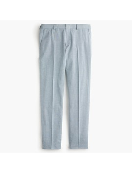 Ludlow Unstructured Suit Pant In Houndstooth Cotton Linen by J.Crew