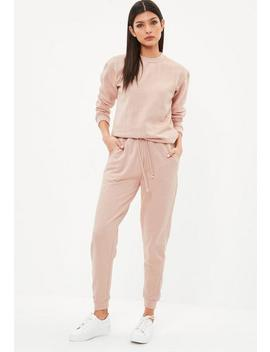Nude Diamante Studded Loungewear Set by Missguided