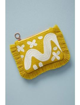 Fringed Silk Pouch by Anthropologie