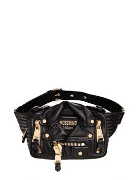 'leather Jacket' Fanny Pack by Moschino
