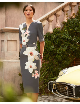 Chatsworth Bloom Bodycon Dress by Ted Baker