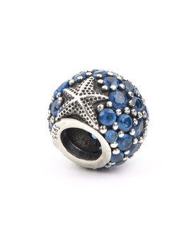 Lucky Sonny Blue Bead Fit Original Pandora Charms Bracelets 100 Percents 925 Sterling Silver Starfish Joyeria Round Diy Berloque Lsh131 by Fashion Silver Jewelry Store