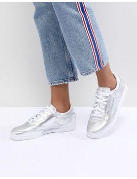 Reebok Classic Club C Sneakers In Silver Metallic by Reebok