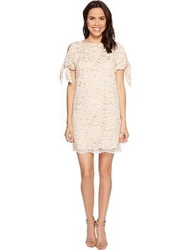 Vince Camuto Womens Lace Shift With Knotted Sleeves by Vince Camuto