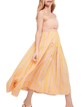 Stripe Me Up Strapless Midi Dress by Free People
