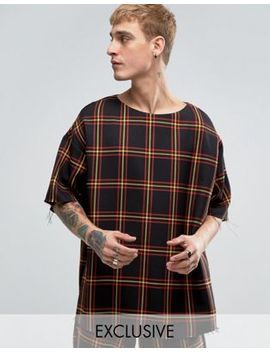 Reclaimed Vintage Inspired Oversized T Shirt In Check by Reclaimed Vintage