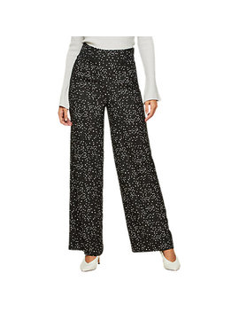 Miss Selfridge Star Print Wide Leg Trousers, Assorted by Miss Selfridge